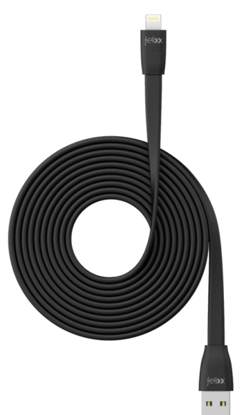 Bea-fon Felixx DC-FL3M-LI - 3 m - Lightning - USB A - Männlich - Männlich - Schwarz