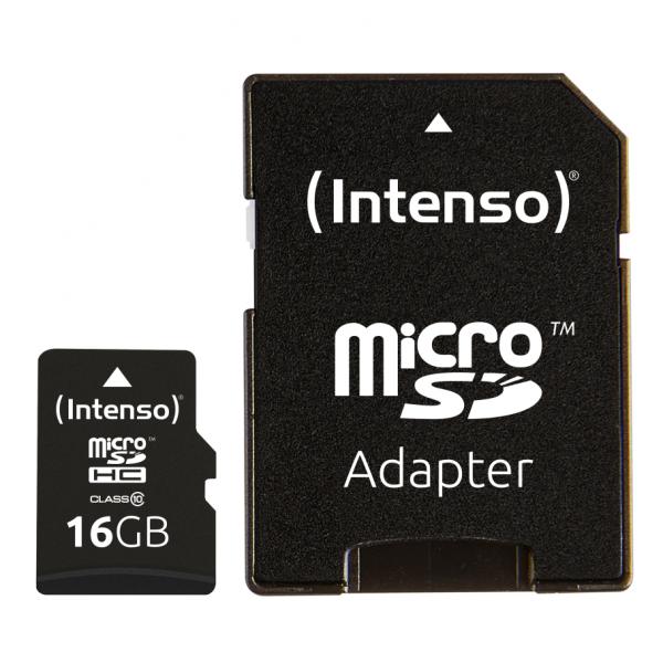 Intenso Class 10 - Flash-Speicherkarte (microSDHC/SD-Adapter inbegriffen)