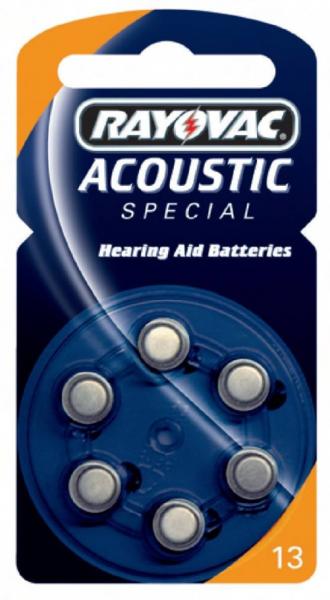 Varta Rayovac Acoustic Special 13 - Batterie 6 x PR48