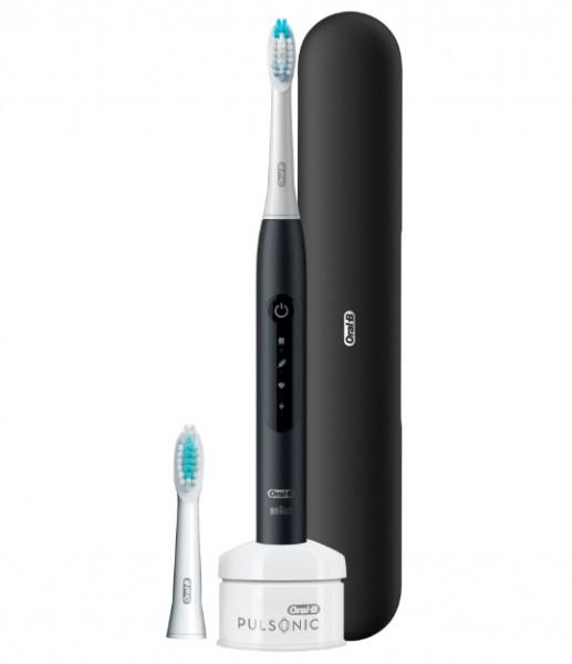 Braun Pulsonic Slim Luxe 4500 Zahnbürste matt-schwarz Onpack 305569