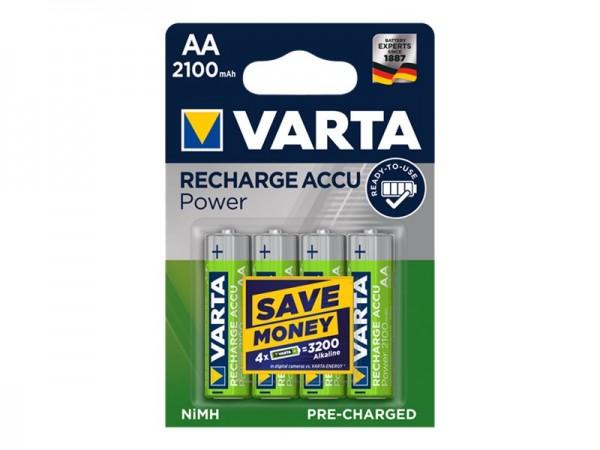 Varta Batterie 4 x AA / HR6 - NiMH - (wiederaufladbar)