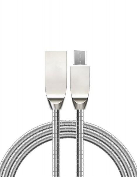 Bea-fon Felixx DC-MET-MI - 1 m - USB A - Micro-USB A - Silber