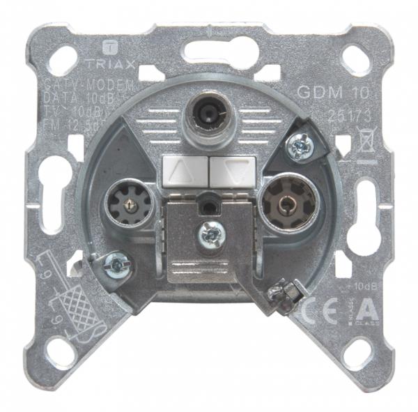 Triax GDM 10 - Ausgang - F-Stecker, IEC-Anschluss