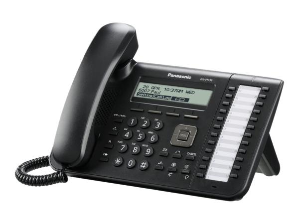 Panasonic KX-UT133NE-B - VoIP-Telefon - dreiweg Anruffunktion