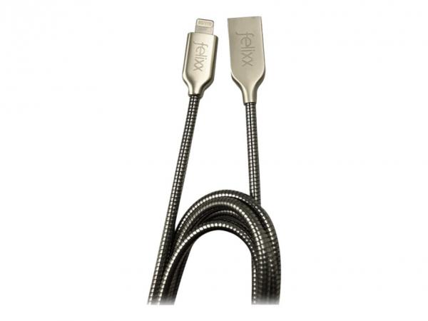 Bea-fon Felixx Premium - Lightning-Kabel - Lightning männlich bis USB männlich - 1 m - Silber - für
