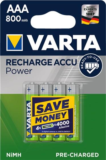 Varta Rechargable Accu - Batterie 4 x AAA - NiMH - (wiederaufladbar)