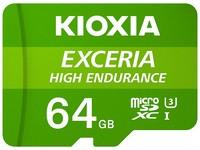 Kioxia Exceria High Endurance - 64 GB - MicroSDXC - Klasse 10 - UHS-I - 65 MB/s - 100 MB/s